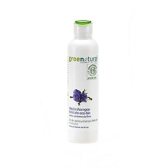 Greenatural Duschgel Zartes Shampoo aus Leinen und Reis 250 ml