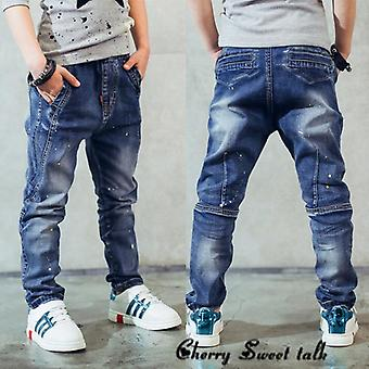 Spring And Autumn Jeans Personality Patch Casual Pant