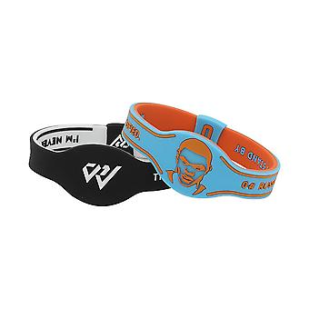 2pcs Uomini Russell Westbrook Braccialetto in silicone Braccialetto sport basket braccialetto