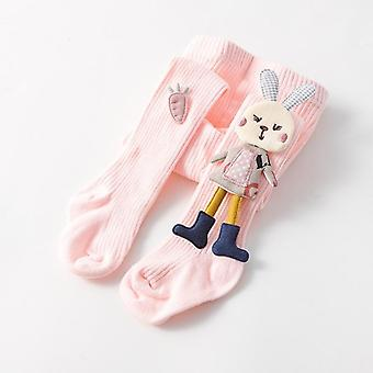Spring Autumn Kids Knitted Pantyhose Cotton Double Needle Tights