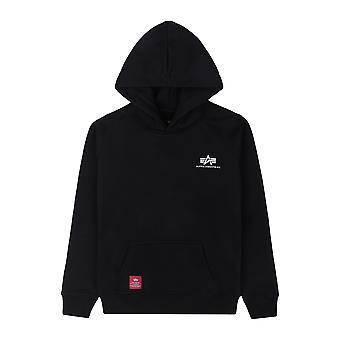 Alpha Industries Kids Sweater Met Capuchon Basic Hoody Klein Logo