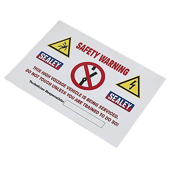 Sealey Hybridsign Hybrid/Electric Vehicle Warning Sign