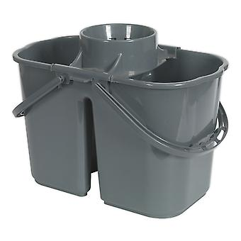 Sealey Bm07 mopp bøtte 15Ltr - 2 rom