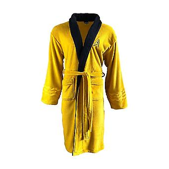 Star Trek Captain Kirk Adult Mustard Fleece Dressing Gown