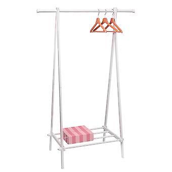 Kledingrek met legplank - Wit - 107x64,5x150