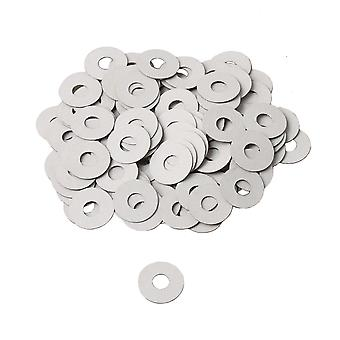 Dia 12mm White Front Rail Punchings Shims Paper Balance Washer Set of 90