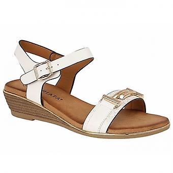 Cipriata Italina Ladies Halter Strap Sandals White