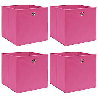 vidaXL säilytyslaatikot 4 kpl. vaaleanpunainen 32×32×32 cm kangas