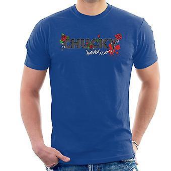 Chucky wil floral logo men's T-shirt spelen