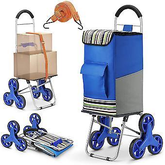 FengChun Einkaufstrolley, 2 in 1 Klappbar Einkaufswagen 75L Kapazitt Sackkarre Super Laden 50Kg -