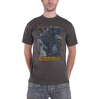 Atari T Paita Asteroids retro pelaaminen vintage uusi Official Mens harmaa