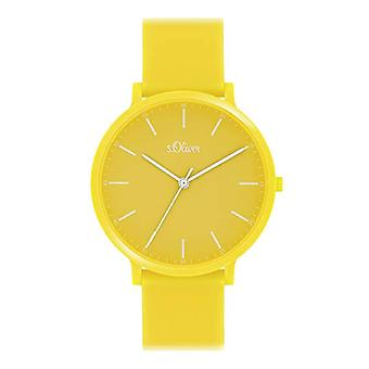 s.Oliver Analogueic Watch Unisex-Adult Quartz with Silicone Strap SO-4064-PQ