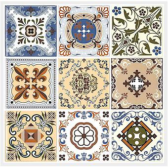 Fliesenaufkleber Selbstklebende Klebefolie Wunderschön Braun Barock-Mosaik Wandfliese Aufkleber,