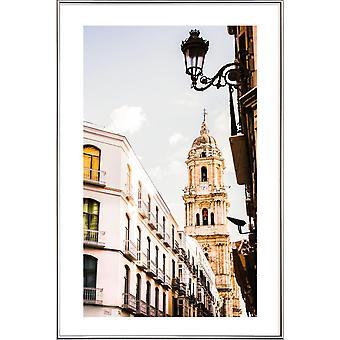 JUNIQE Print - Malaga - Arkitektoniske Detaljer Plakat i Cream White