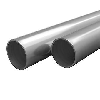 vidaXL 2 pces. Tubes en acier inoxydable Rond V2A 1m Ø42x1,8mm