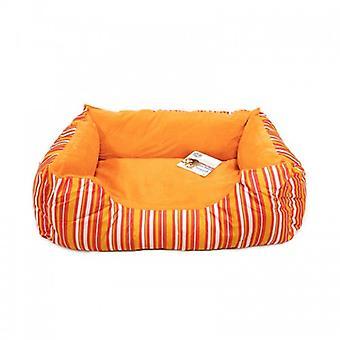 Pawise Cuddler Strip Rectangular Crib Orange (Dogs , Bedding , Beds)