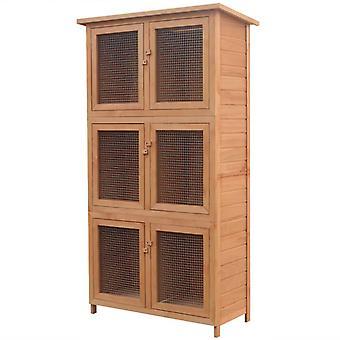 vidaXL klein dier/konijnenhok 6 dozen hout