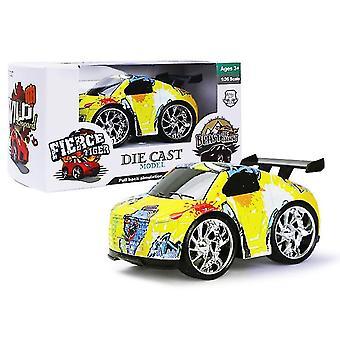 Kilpa-auto lasten q versio vetää takaisin seosauto, graffiti simulaatio auto malli lelu az18188