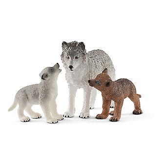 Schleich Wild Life - Äiti susi pentujen kanssa
