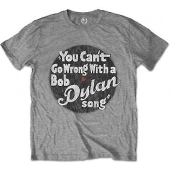 Bob Dylan You Cant Go Wrong Mens Grey T-Shirt: X-Large