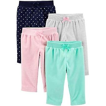 Simple Joys by Carter's Girls' 4-Pack Fleece Pants