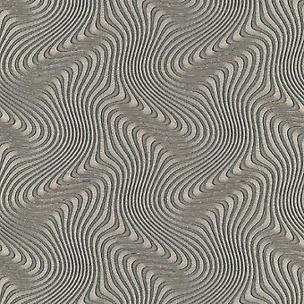 Erismann Waves Gold Wallpaper