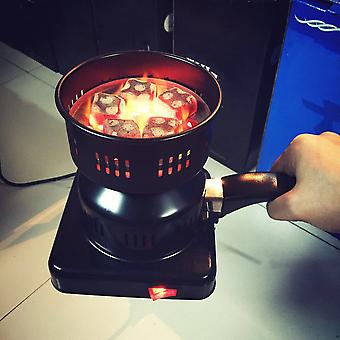 Electric Charcoal Burner Removable Tray + Tongs Thickened Charcoal Stove