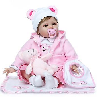 Újjászületett baba baba kézzel készített szilikon imádnivaló újjászületett kisgyermek bonecas 55cm bebe lány gyerek menina de szilikon baba surprice