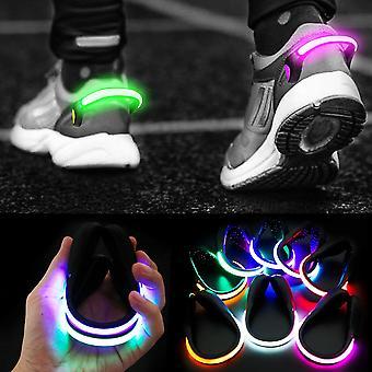 Led Shoe Clip Lights Night Warning Lamb For Running(Green)