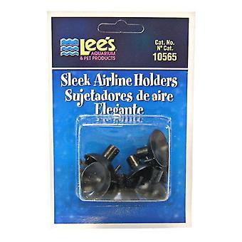 Lees Sleek Airline Holders - Black - 6 Pack