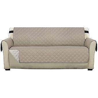 """Reversible sofa slipcover furniture protector resistant sofa cover protector,  couch covers for 1/2/3 seater with 2"""" elastic straps, khaki"""