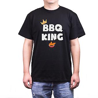 BBQ kungen Funny Crewneck T-Shirt för pappa bästa present till fars dag eller födelsedag