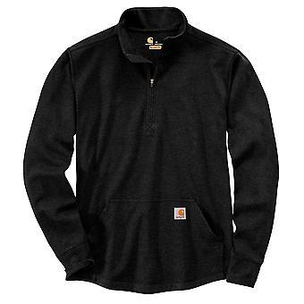 Carhartt Felpa da Uomo Relaxed Fit Heavyweight Camicia termica a maniche lunghe con 1/2 zip