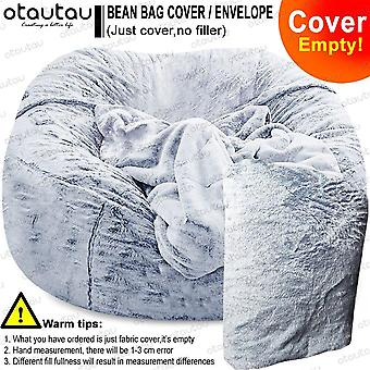 Sofa cover big xxl no stuffed bean bag pouf ottoman chair couch bed seat puff futon relax lounge furniture