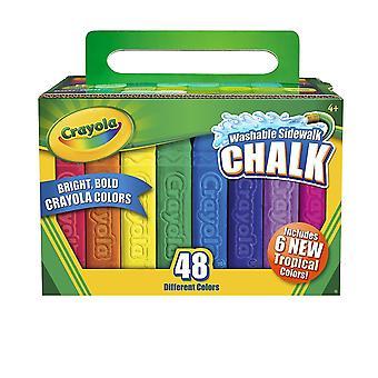 Bouncy balls 48pc sidewalk chalk | children's washable outdoor chalks