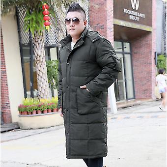 Verlängerte Daunenjacke Männer verdickt über dem Knie Winter Jacke Mantel Plus Fett, um Down Jacket Men's Plus Size zu erhöhen
