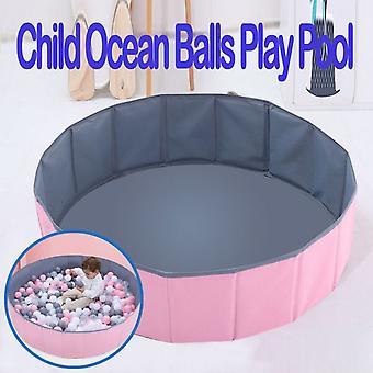 Vauva lapset pelaavat pelejä kannettava taitettava pallo aita lasten valtameripallo pelaa biljardi-harmaa