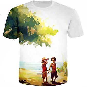 Anime One Piece Trend 3d Moda Krótki rękaw T-shirt