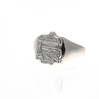 Liverpool forsølvede Crest Ring Medium