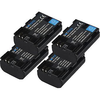4 x Dot.Foto LP-E6 PREMIUM Remplacement de la batterie rechargeable de haute capacité pour Canon EXTRA - 7.4v / 2200mAh [Voir description pour la compatibilité]