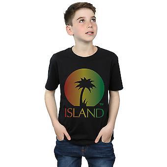 Island Records Boys Distressed Logo T-Shirt