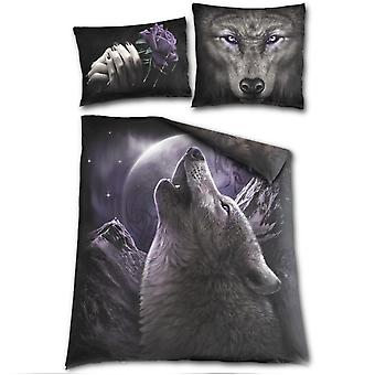 Spiral - wolf soul - double sided duvet set - double bed