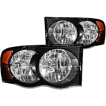 Anzo USA 111022 Dodge Ram Crystal Black Headlight Assembly - (Sold in Pairs)