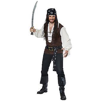 Havet eventyrer Pirate Jack Sparrow Buccaneer kaptein Mens drakt