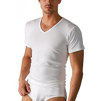 MEY 2807 muži ' s Noblesse bílá Pima bavlna V-krční krátká objímka nahoře
