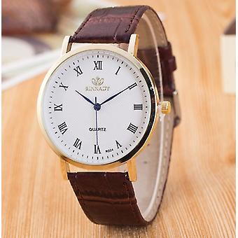 Mens Formal Slim Brown Office Watch