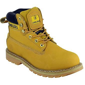 Gibt Mens Tavistock Schnürschuh Leder Stoff ausgekleidet Casual Boot gelb
