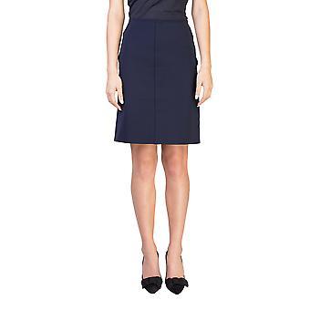 Prada Women's Nylon Polyester Blend Skirt Navy