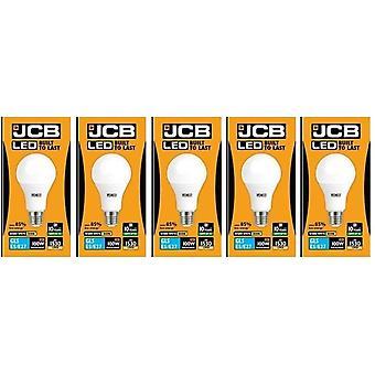 5 X JCB LED 15 Watt Screw Cap GLS Lamp Warm White 3000K 100W Replacement ES E27 LED Bulb[Energy Class A+]