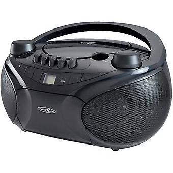 Reflexion RCR4655 FM AUX, CD, nastro, SD, USB nero